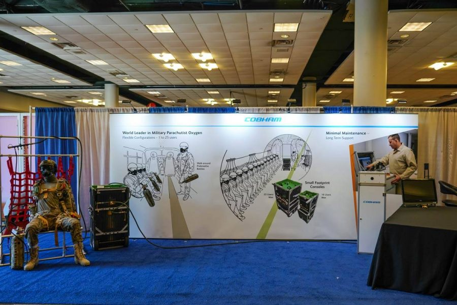 Cobham booth at the PIA Symposium.